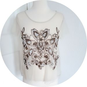 Urban outfitters embellished Sheer top Size m